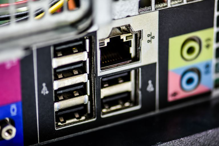 Close-Up Of Usb Ports On Computer