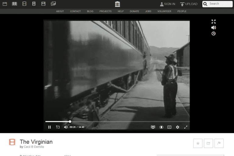 The Virginian free movie at Internet Archive
