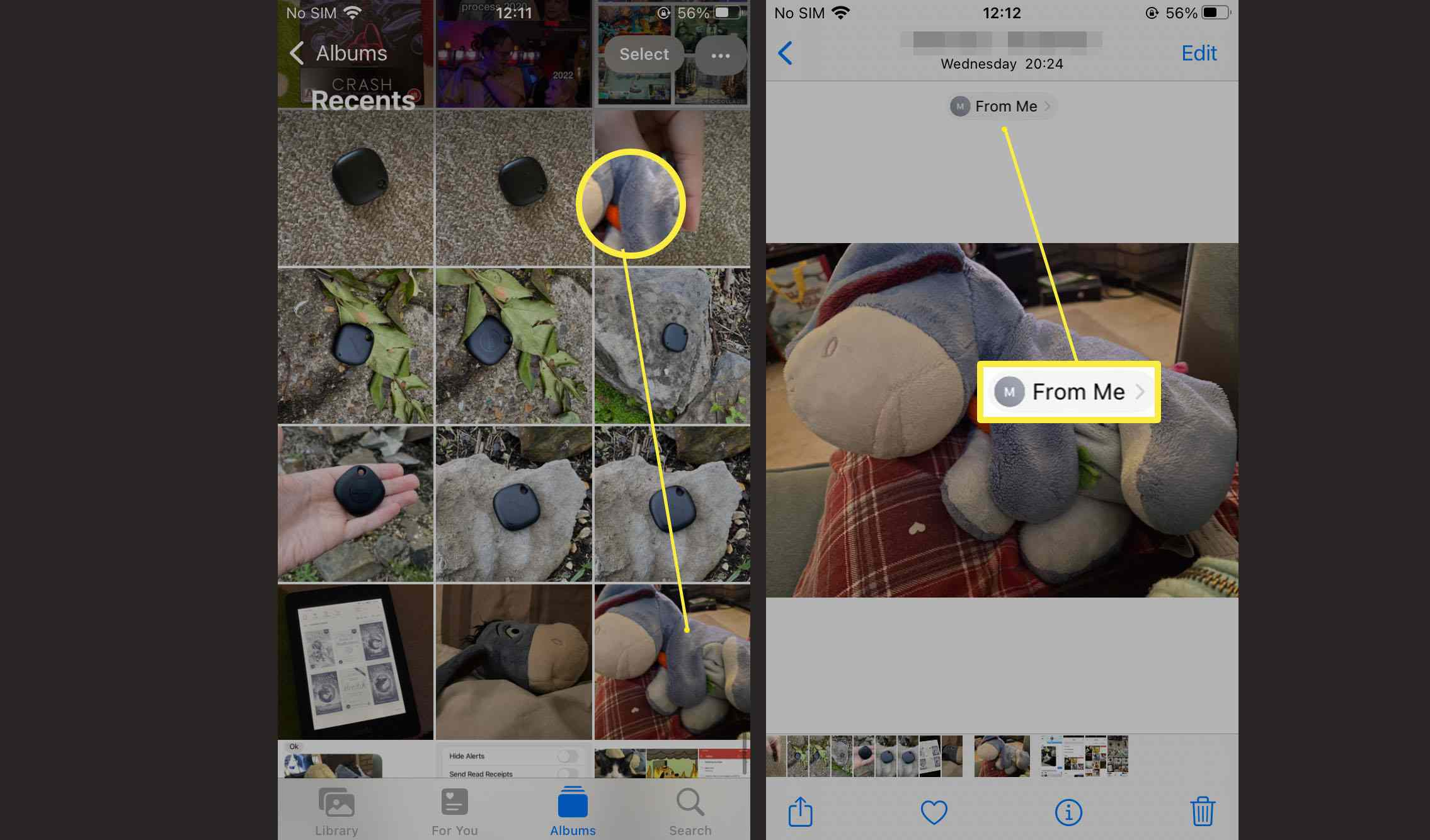 Steps required to view other photos sent by someone in iOS 15 Messages