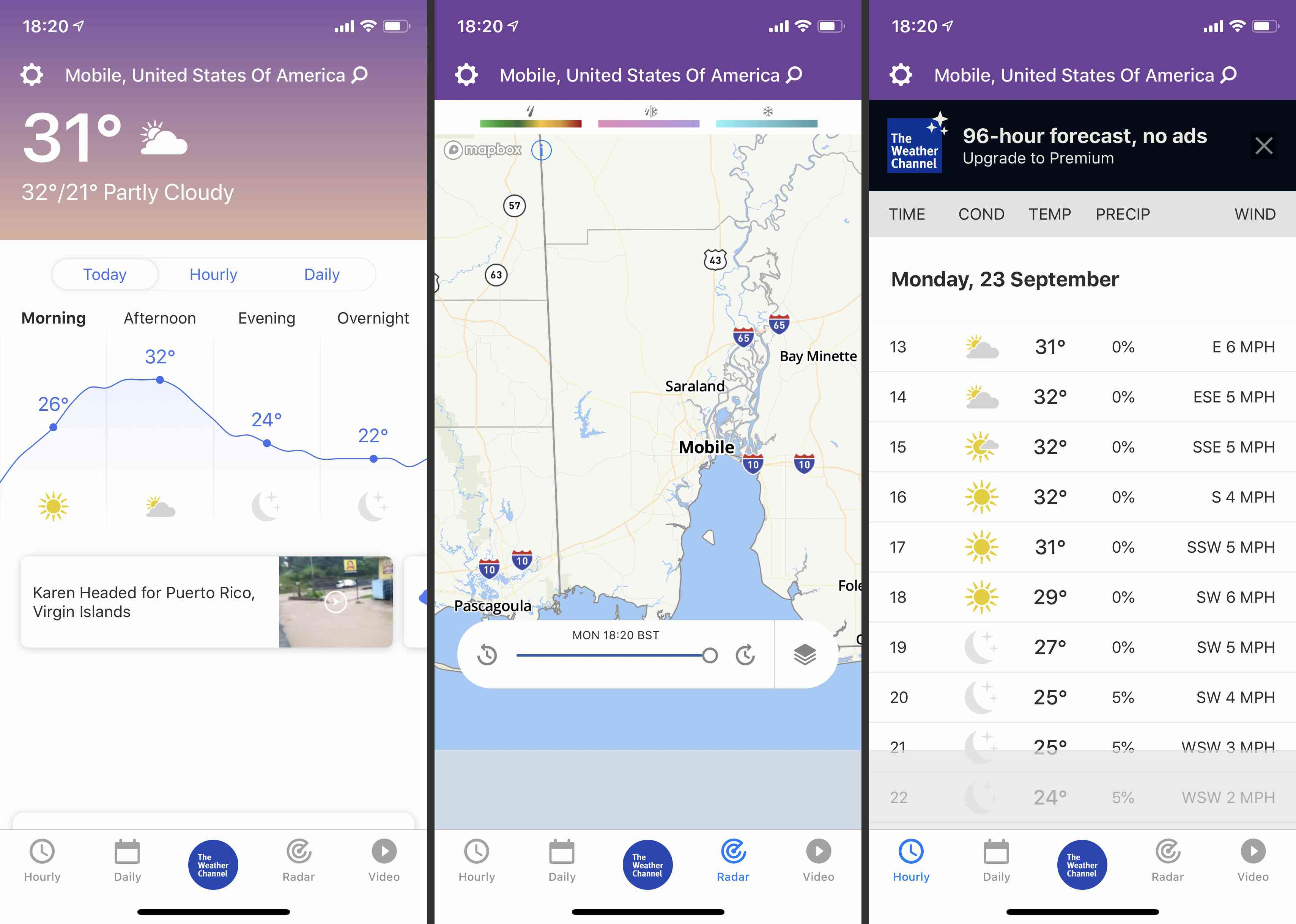 The Weather Channel Forecast and Radar Maps app screenshots