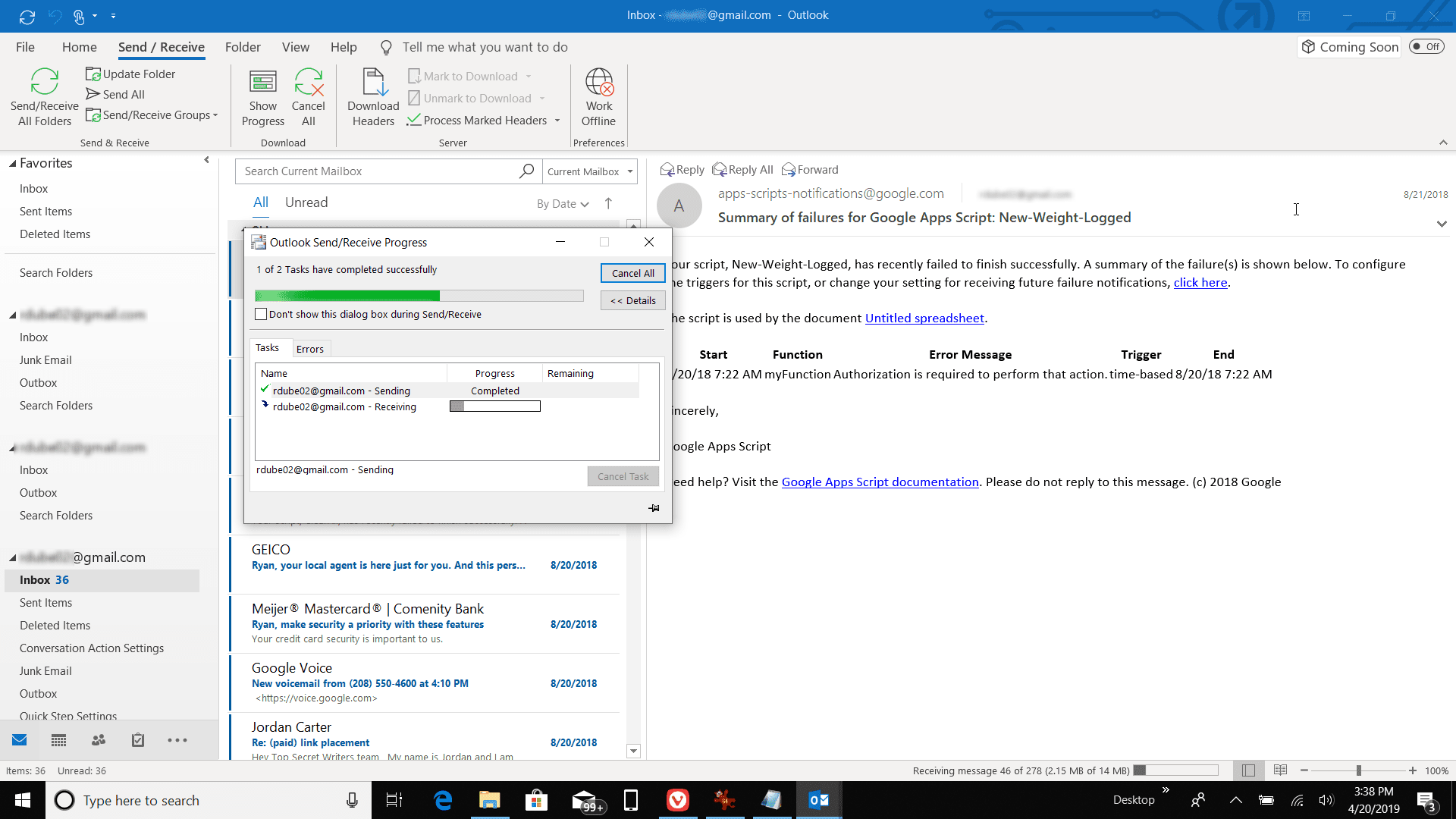 How to Access Gmail in Outlook Using a POP Server