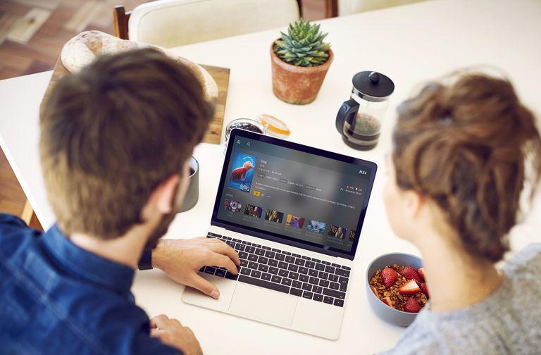 Plex Software on Laptop