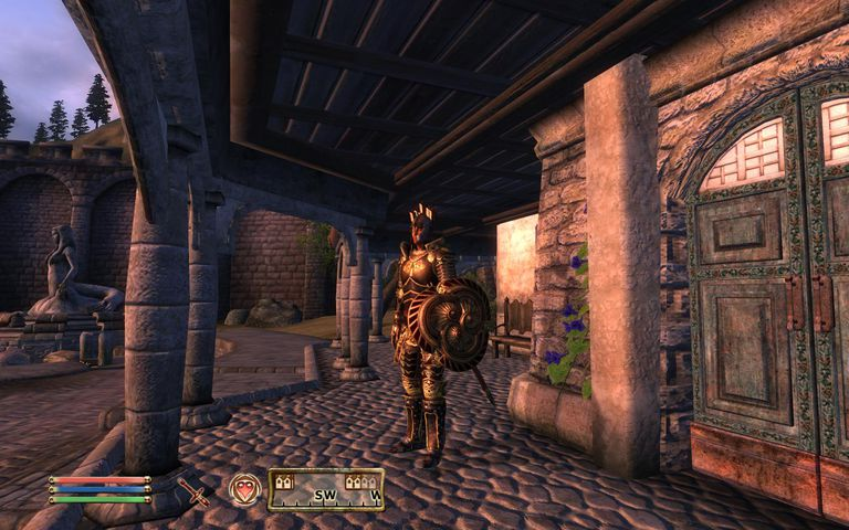 Sentry standing outside a door in The Elder Scrolls: Oblivion