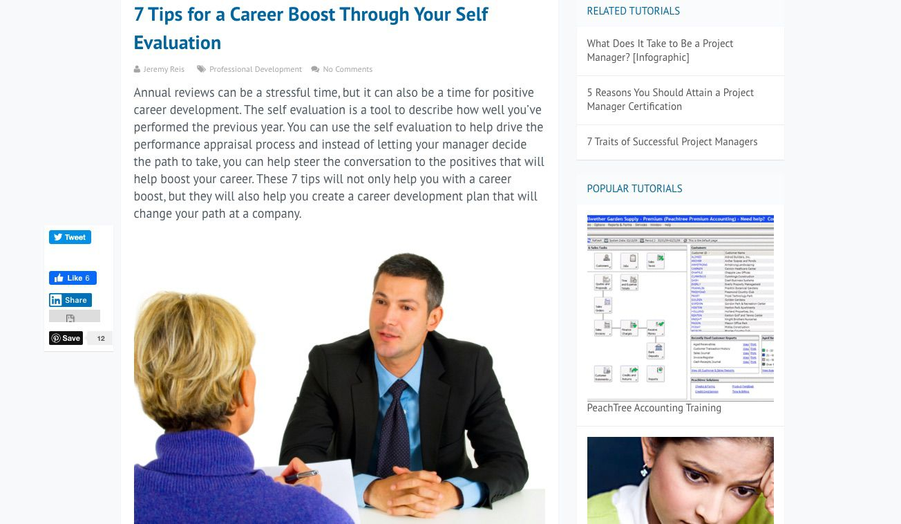 Learnthat.com course listing about 7 Tips for a Career Boost Through Your Self Evaluation