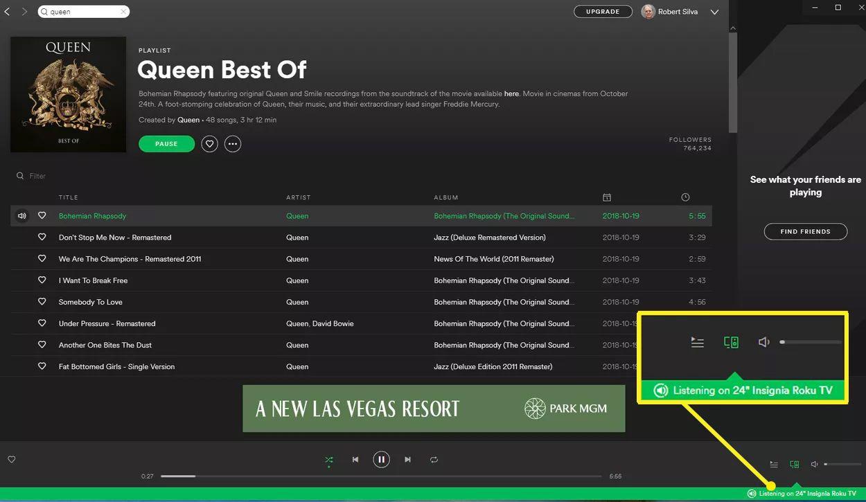 Spotify PC App Green Bar Device Confirmation