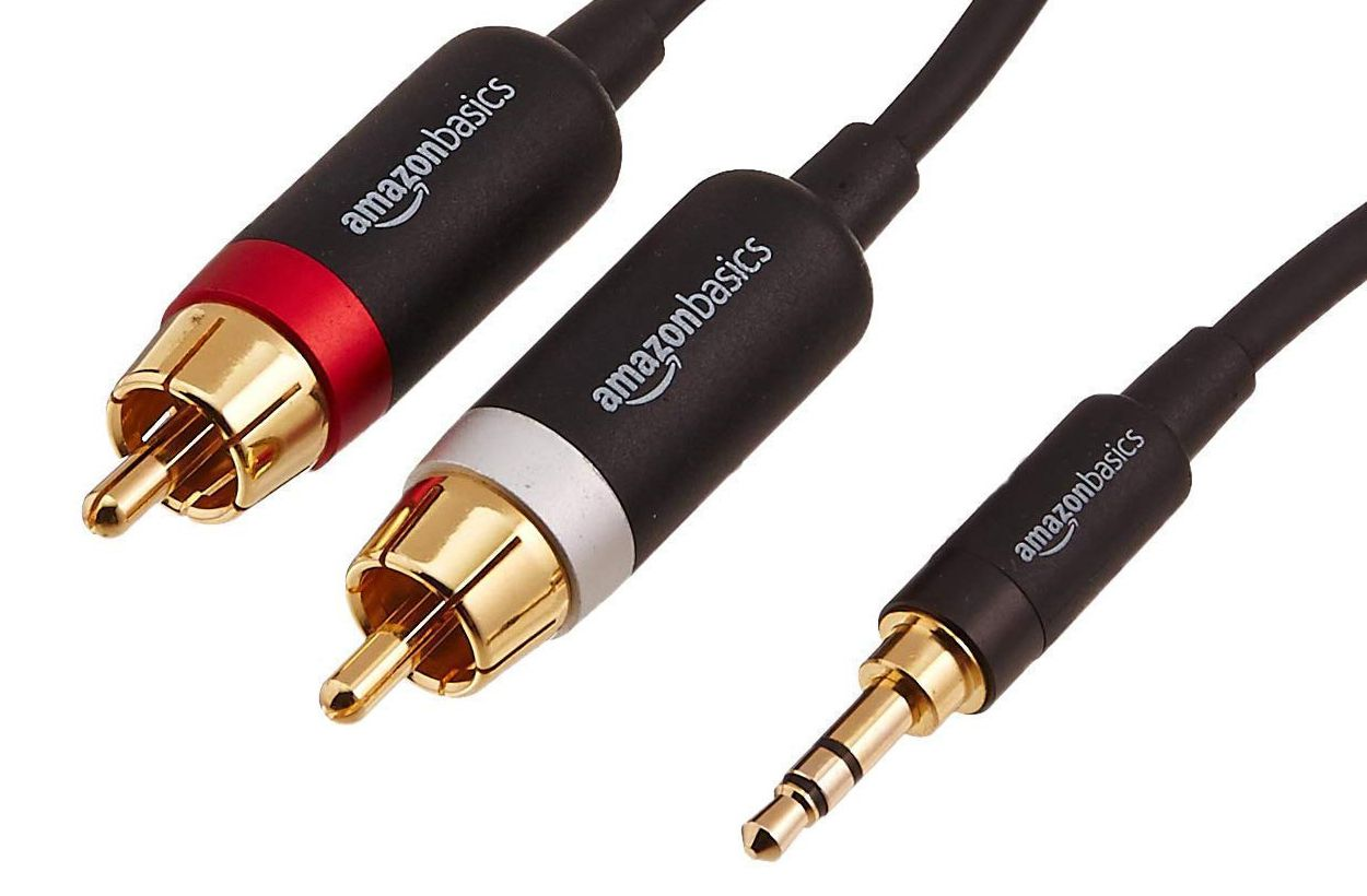 Amazon Basics RCA to Mini (3.5mm) Stereo Audio Adapter Cable