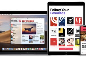 Image showing Apple News on different devices