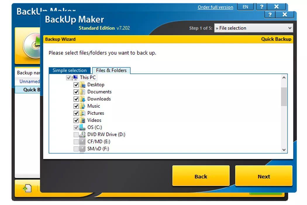 BackUp Maker on Windows