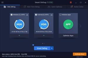 Smart Defrag disk defrag tab