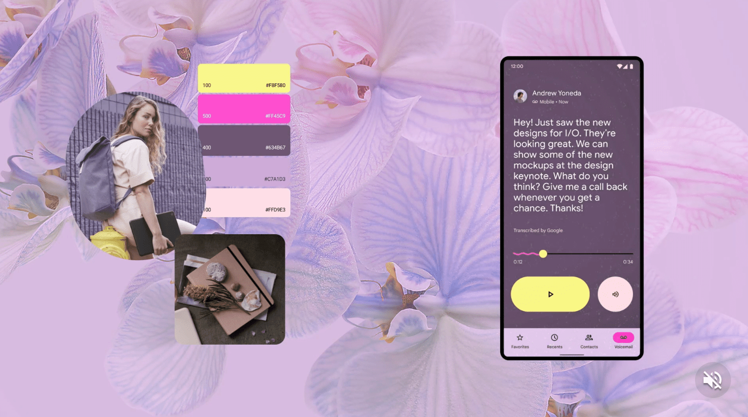 Android 12's Material You design matching the user's aesthetic and color scheme