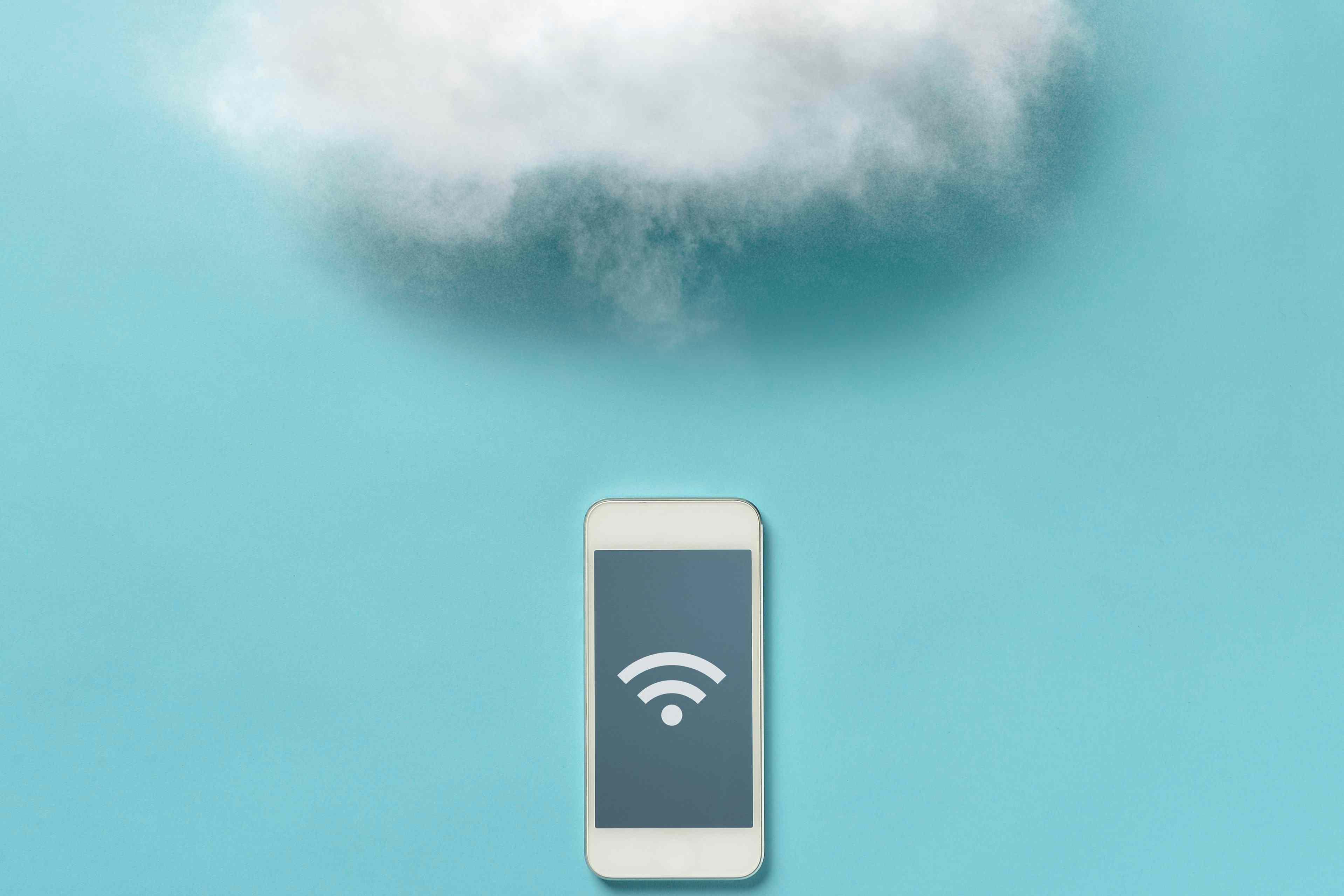 Cloud over smartphone