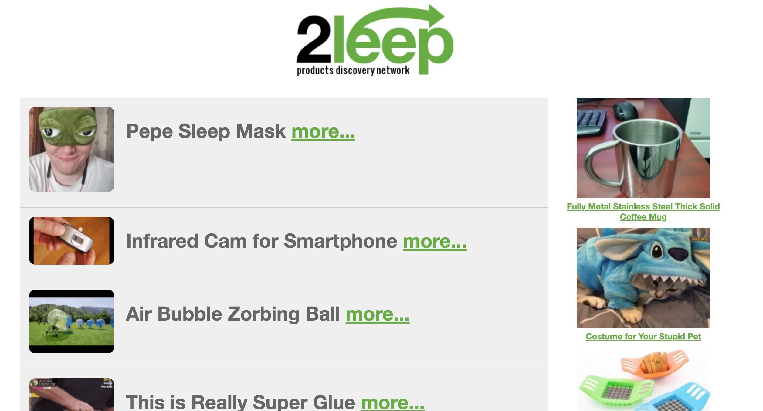 2Leep homepage
