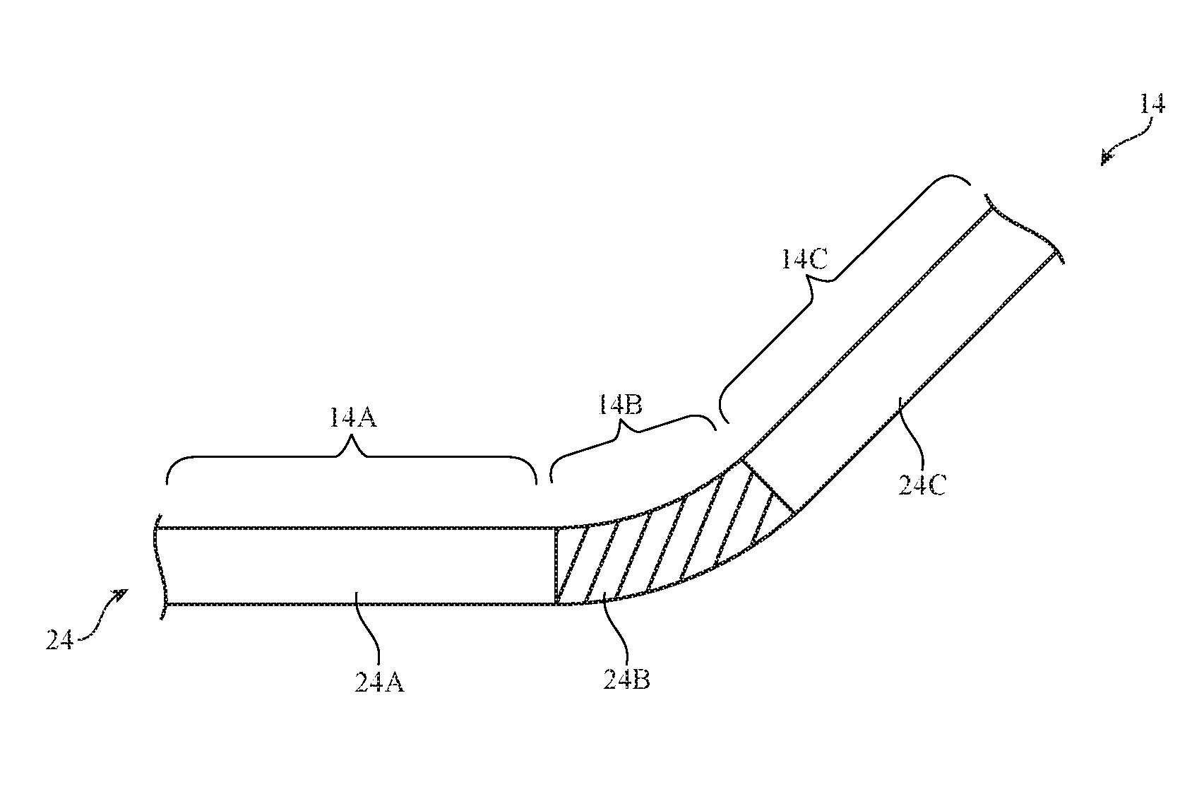 Foldable device illustration from patent US10020462B1