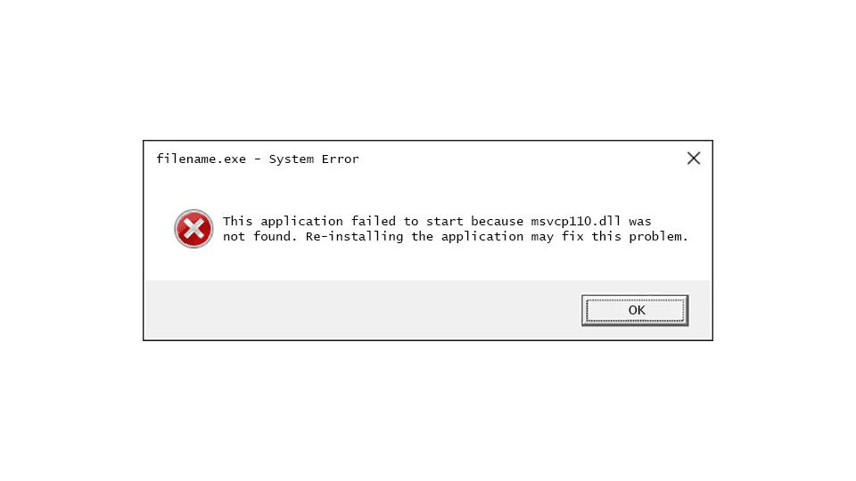 How To Fix Msvcp110 Dll Is Missing Or Not Found Errors