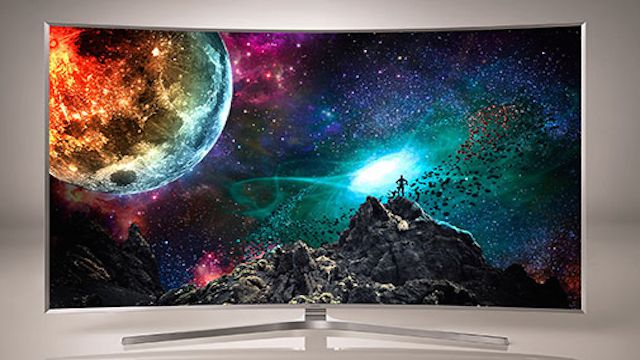 HDR TV with space background