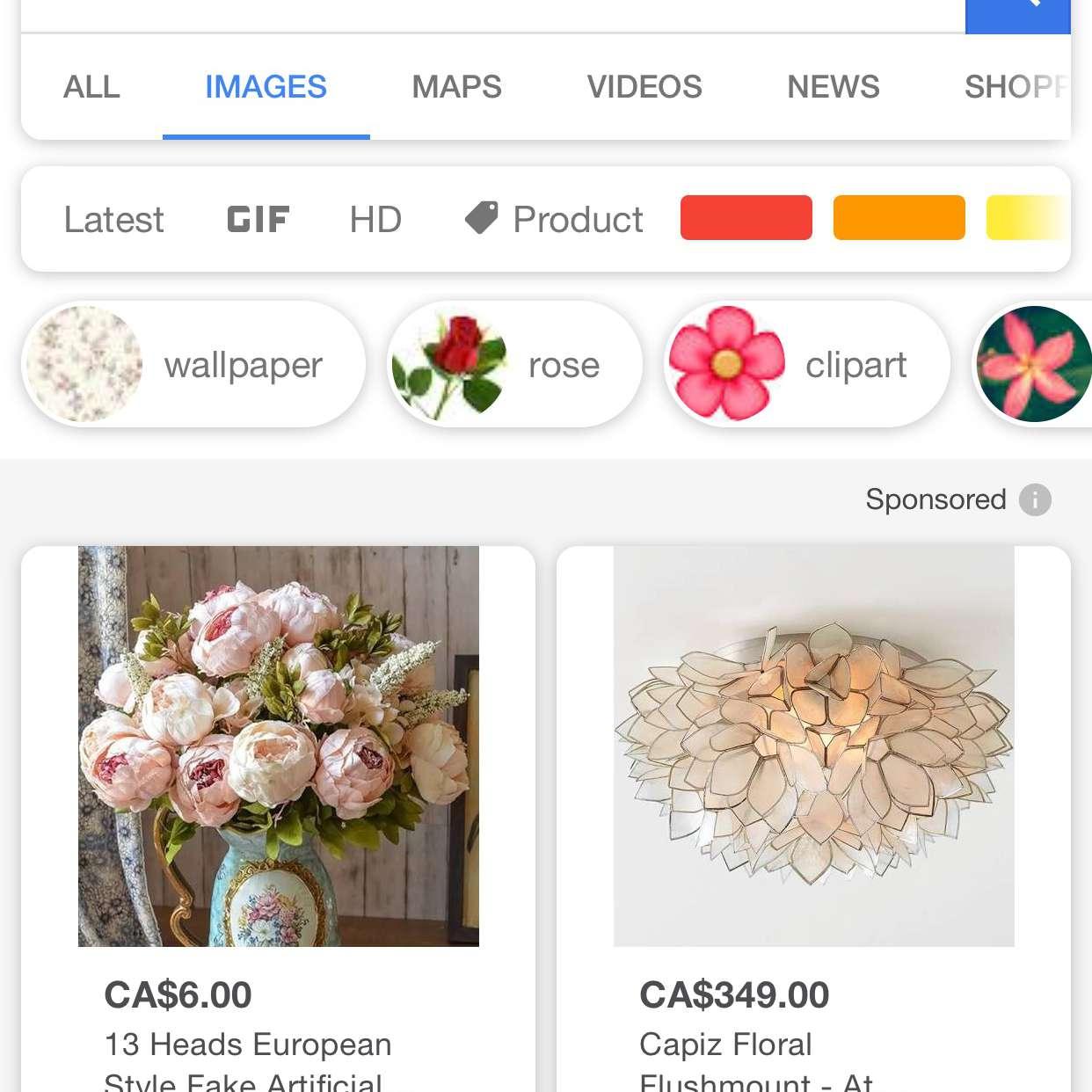 A screenshot of Google.com.
