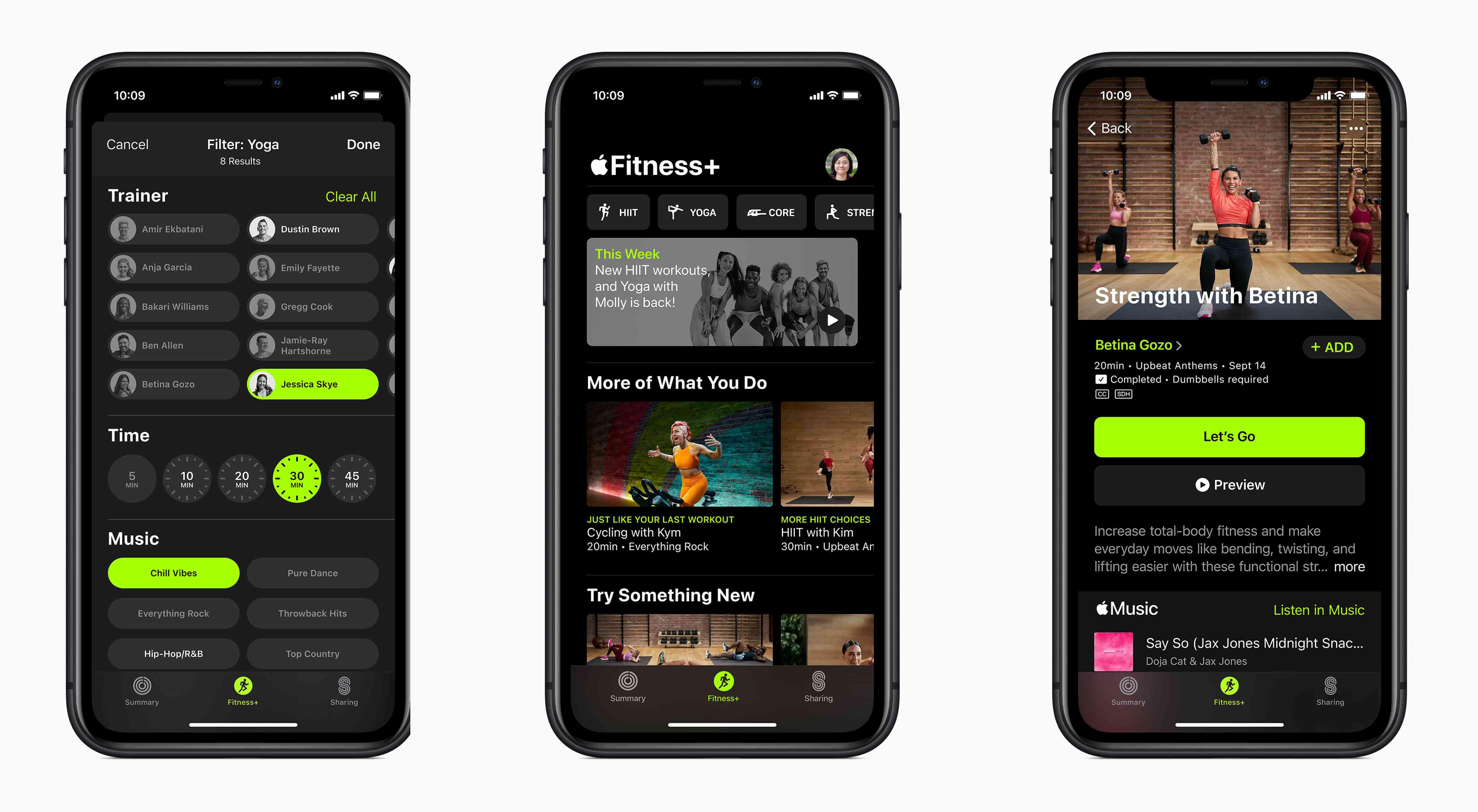 Apple Fitness+ app.