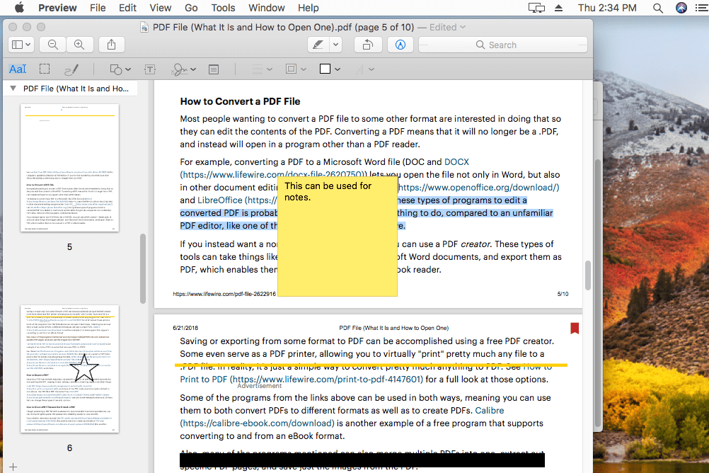 how to edit a pdf on a mac