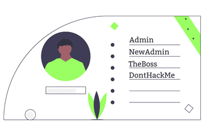 Personal info card with other names for administrator