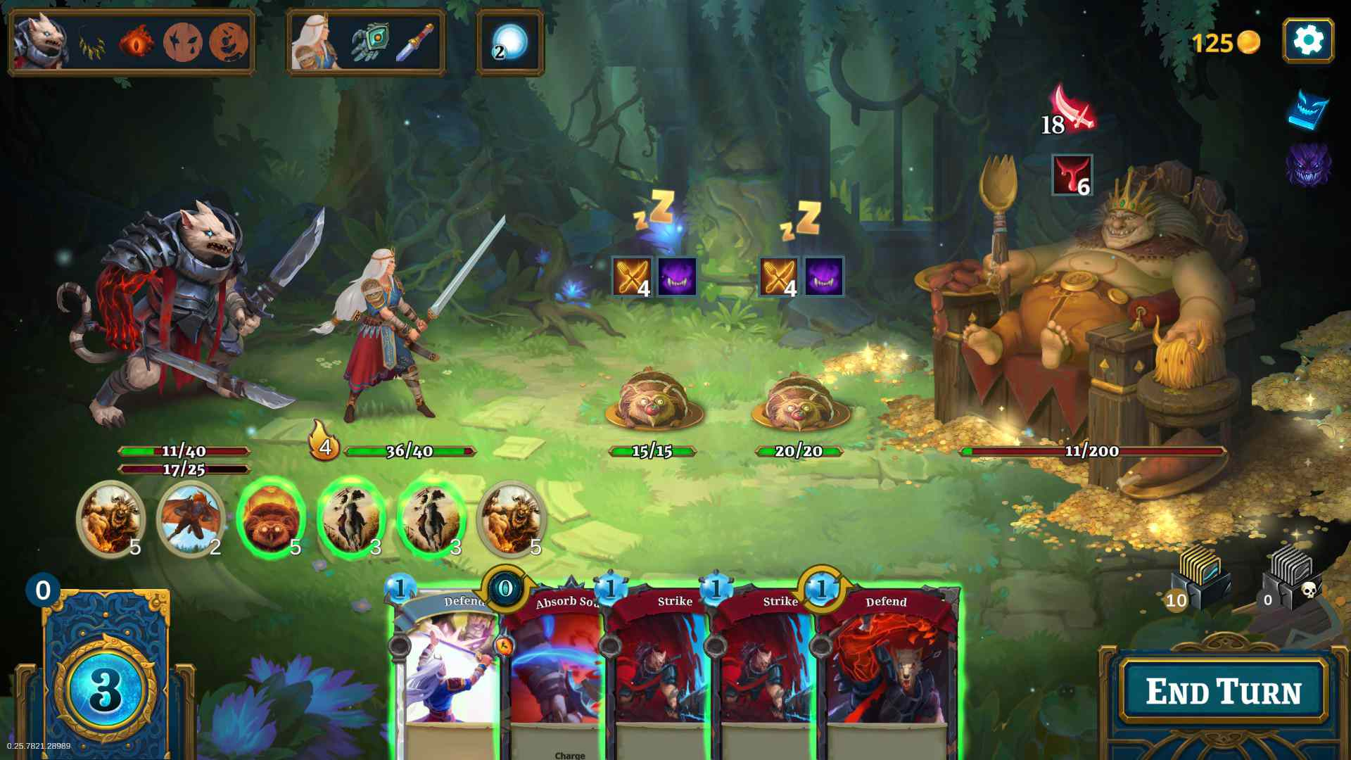 Screenshot from 'Roguebook.'