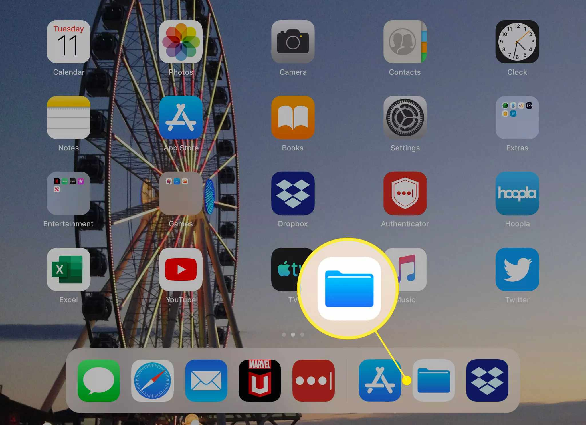 The Files app in iPadOS and iOS