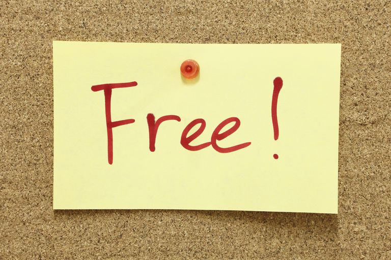 Photo of the word Free! on a bulletin board