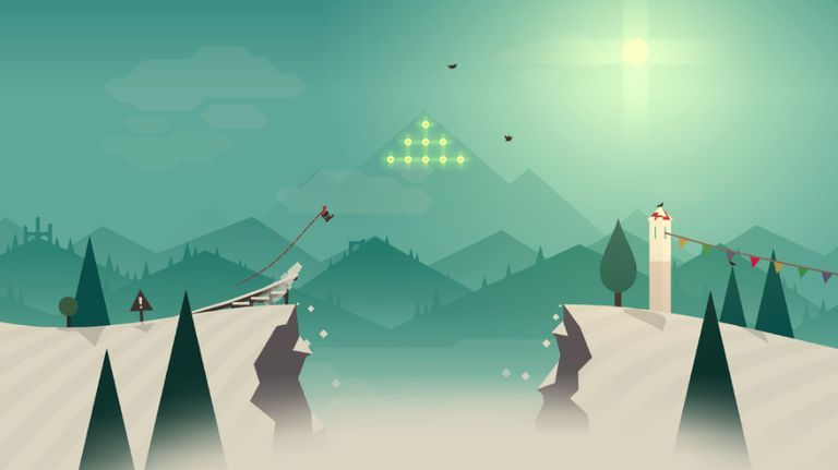 Apple TV screenshot of Alto's Adventure game