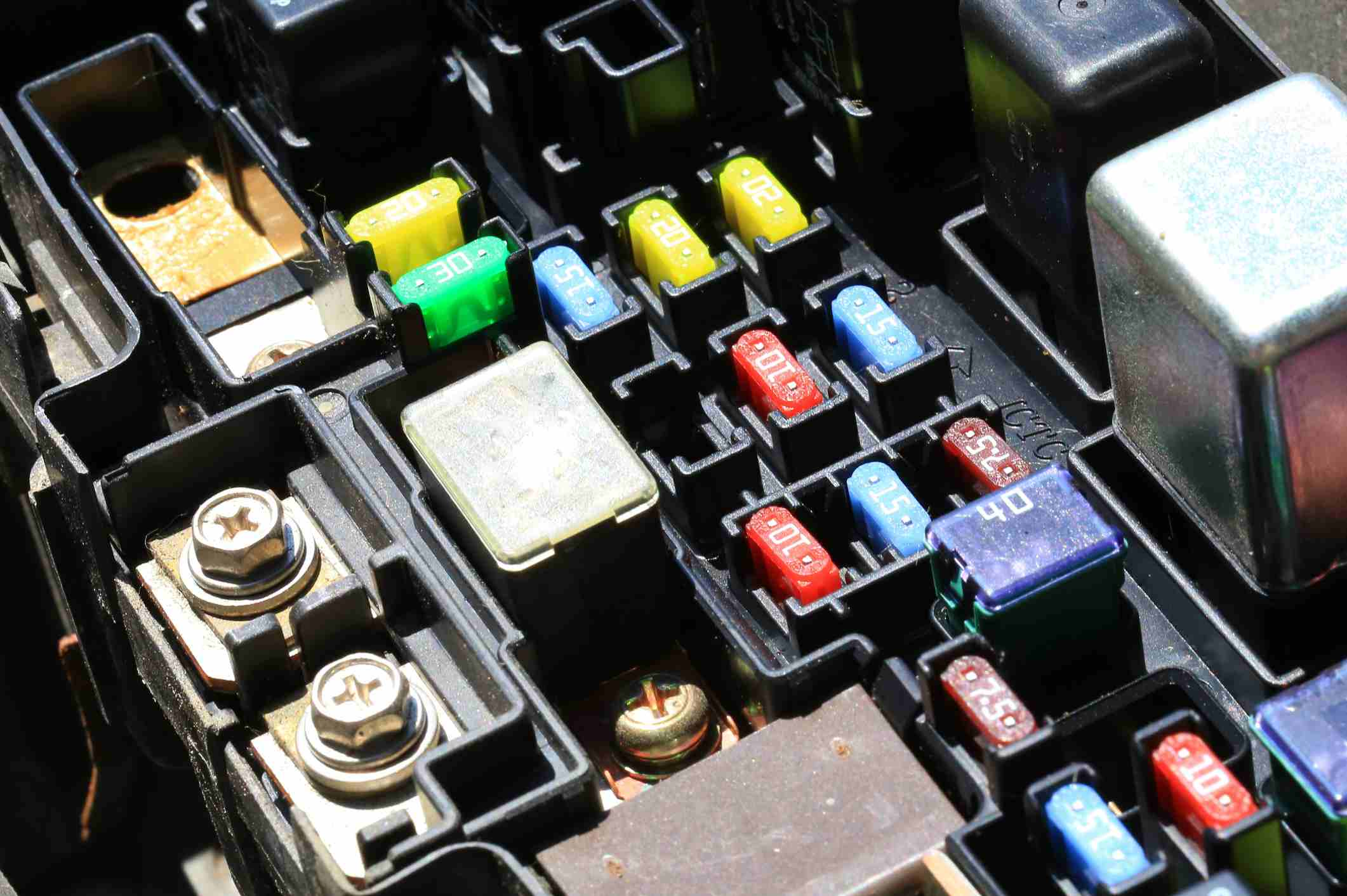 Fuses In An Automobile S Fuse Box