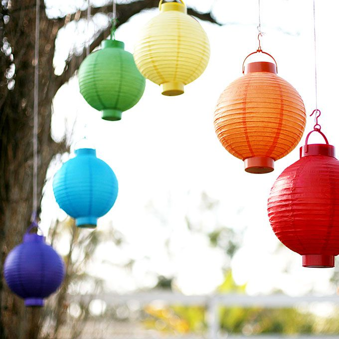 Brightly colored lamps