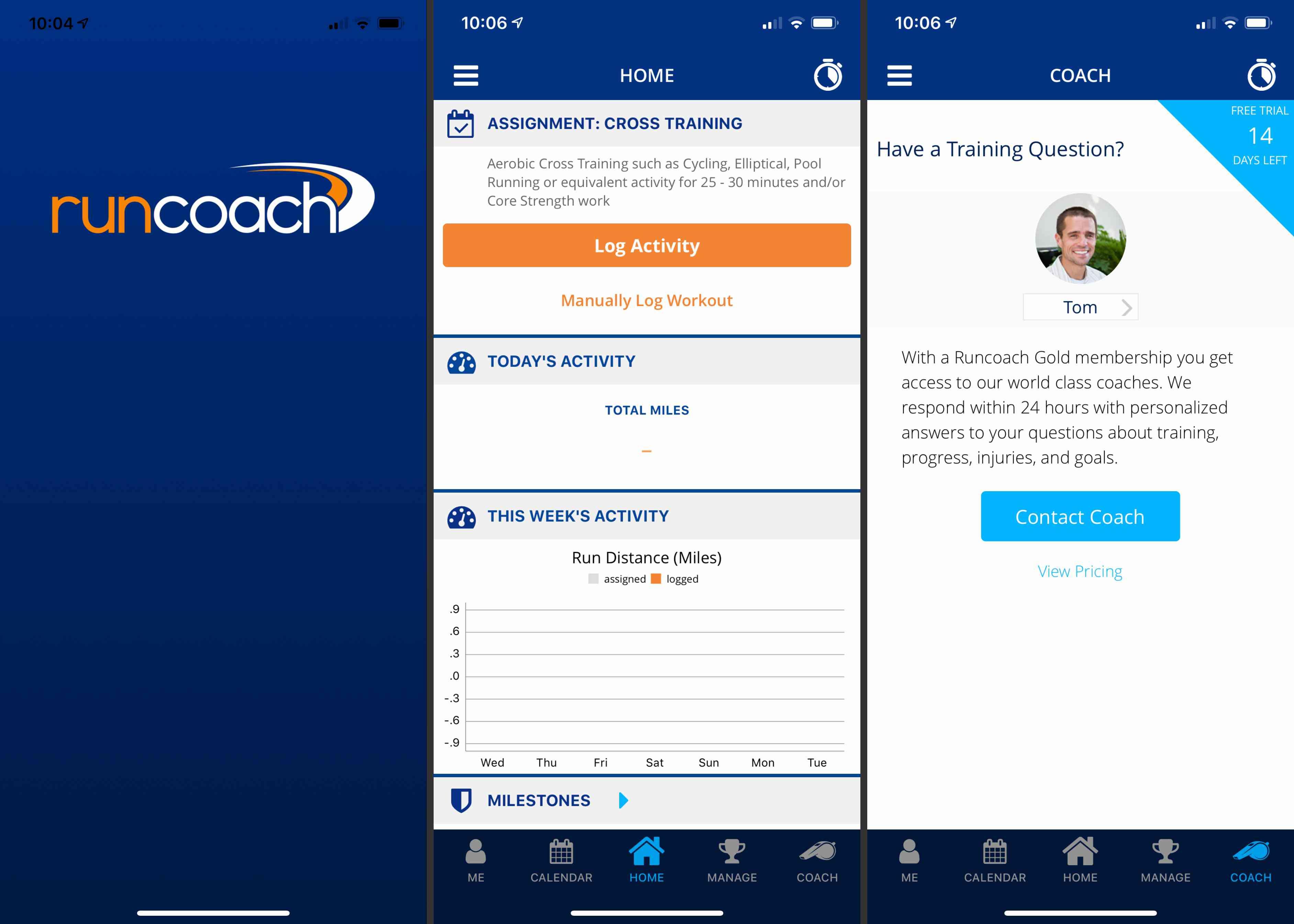 RunCoach app