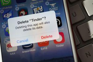 Delete Tinder app