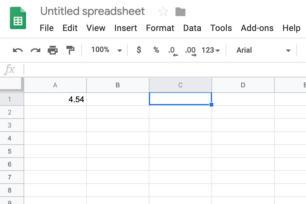 Google Sheets active cell