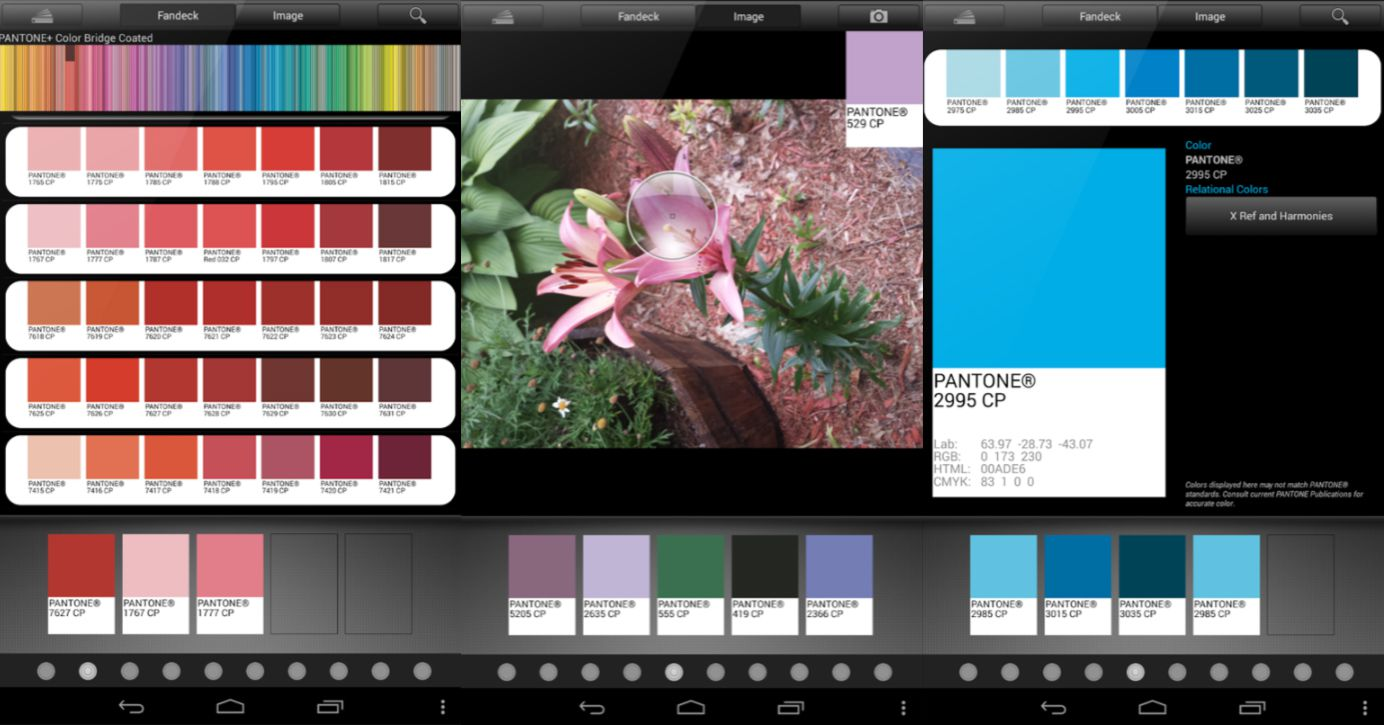 myPantone app on Android.