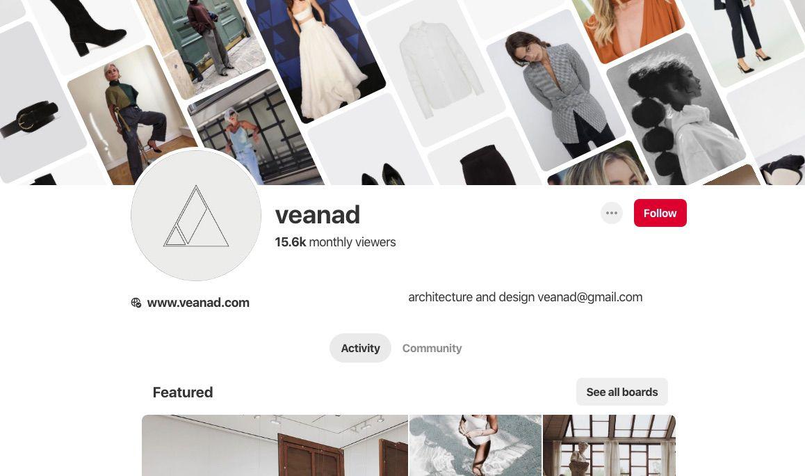 Veanad Pinterest board
