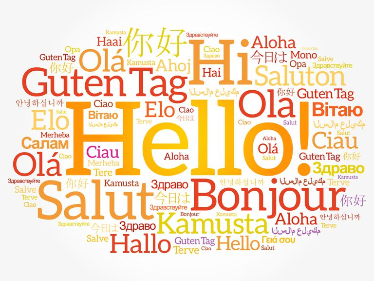 the word Hello in dozens of languages