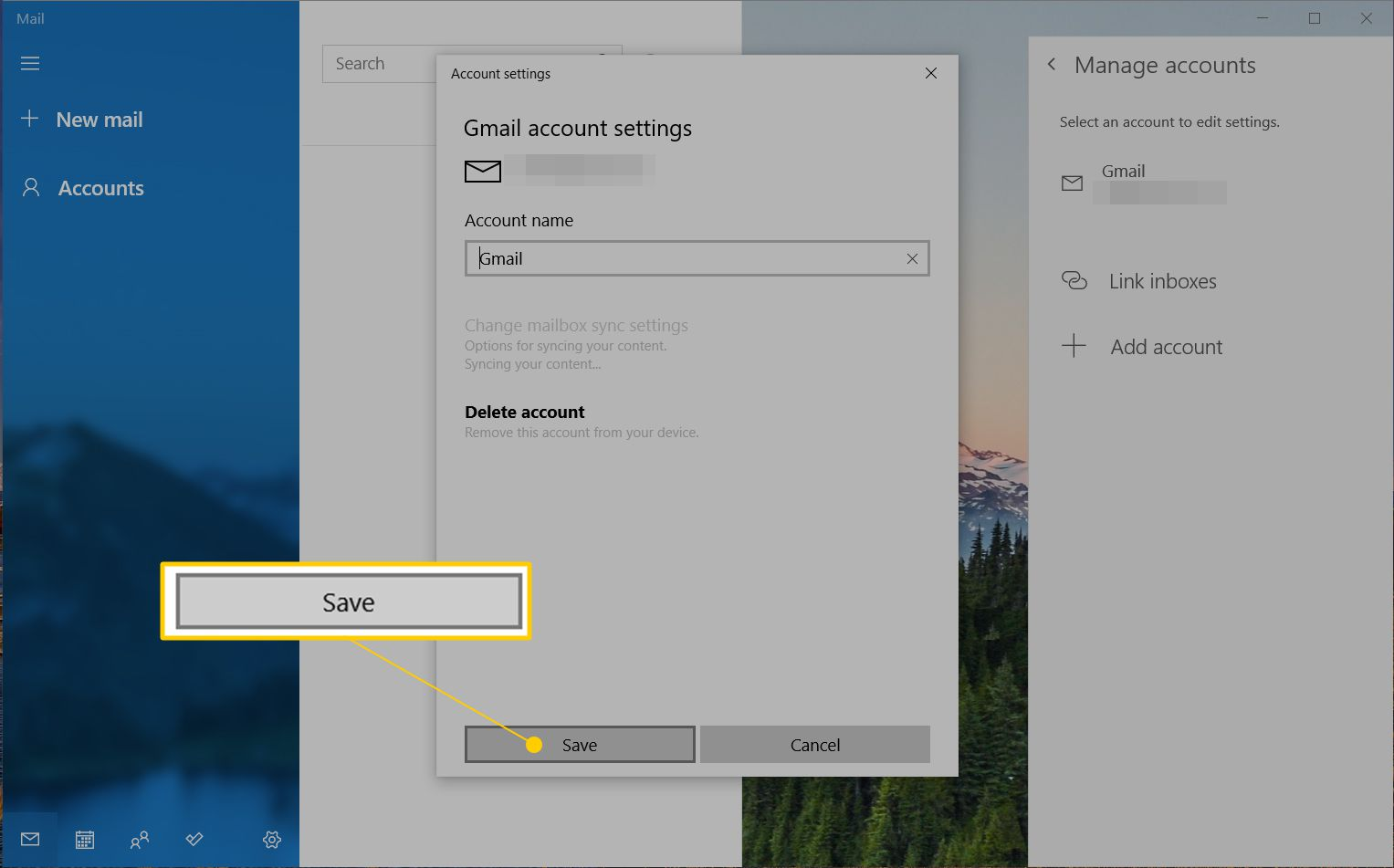 Delete Email Accounts in Outlook and Windows Mail