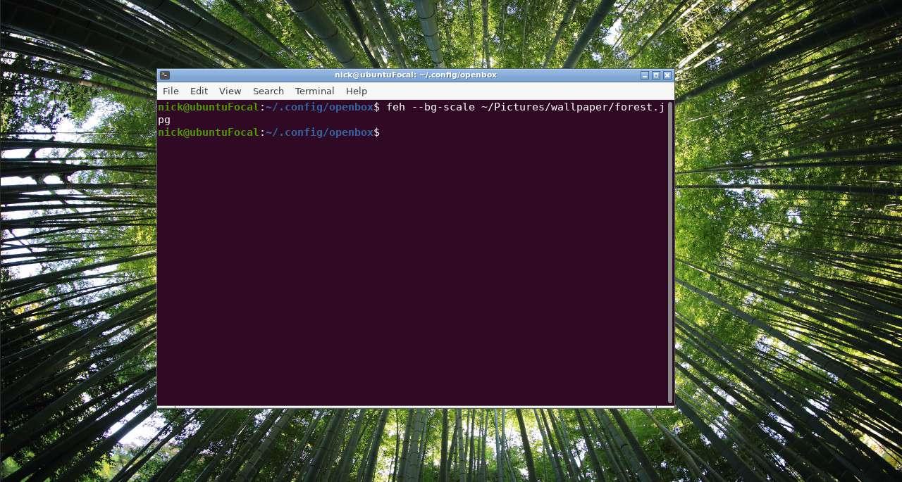 Ubuntu Openbox set wallpaper with feh