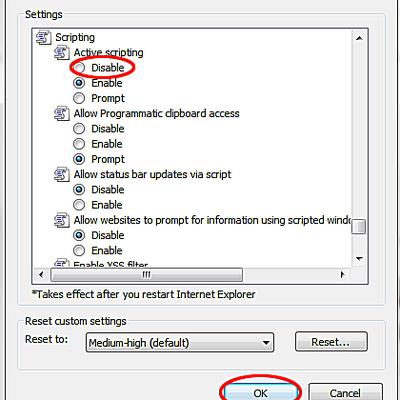 activation javascript sur ipad