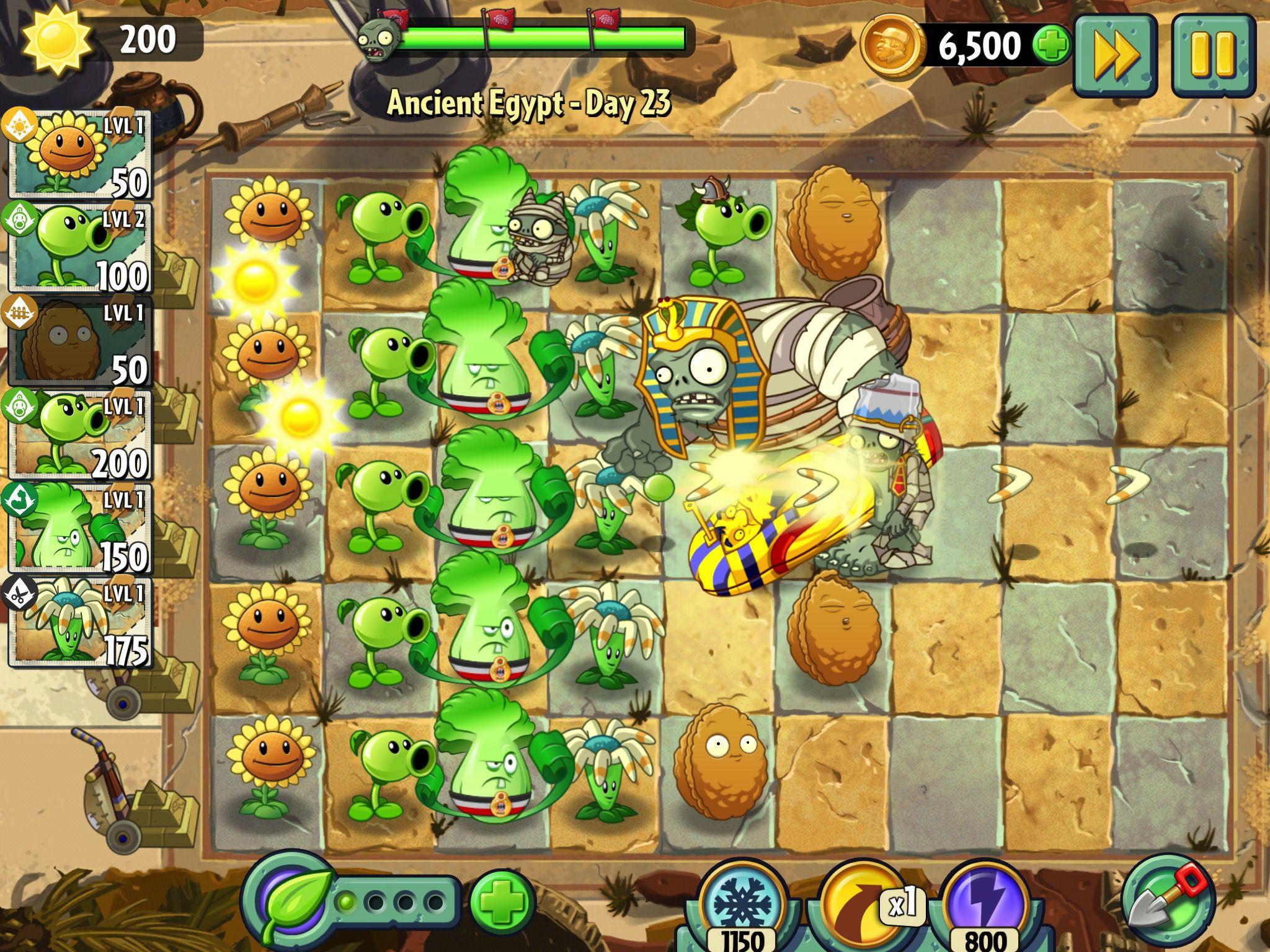 Plants vs Zombies 2 on iPad