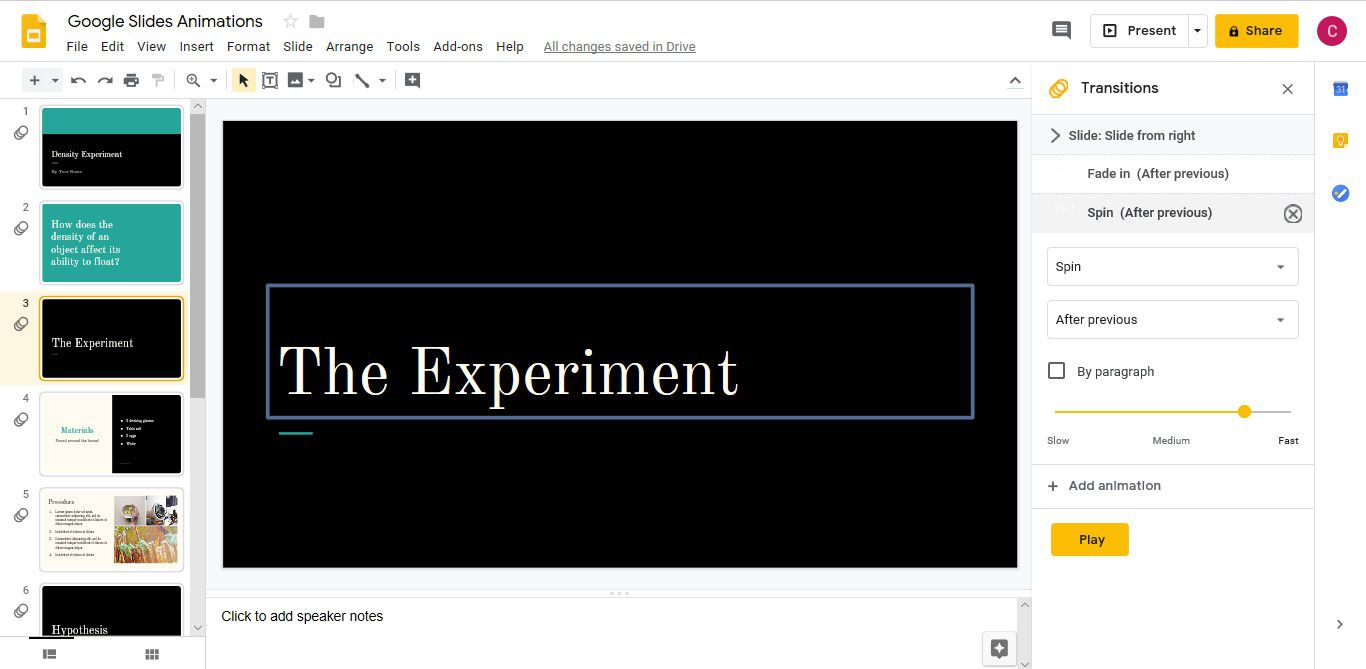 How to Use Google Slide Animations and Transitions