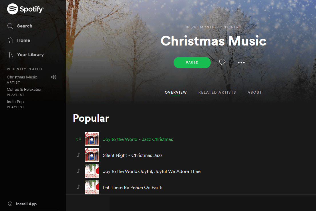 Christmas Music Variety Stream 2020 7 Best Free Christmas Music Streaming Sites