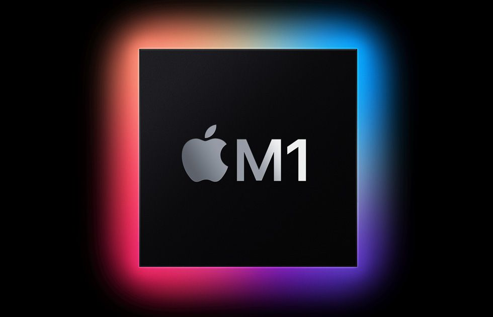 Graphic of Apple's M1 chip