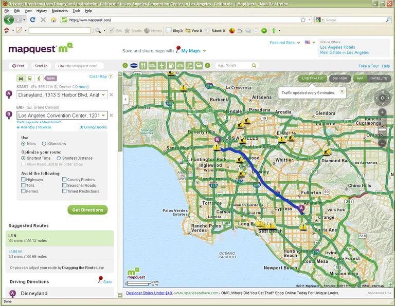 Mapquest Driving Directions Map Directions How to Use MapQuest to Create Printed Driving Directions