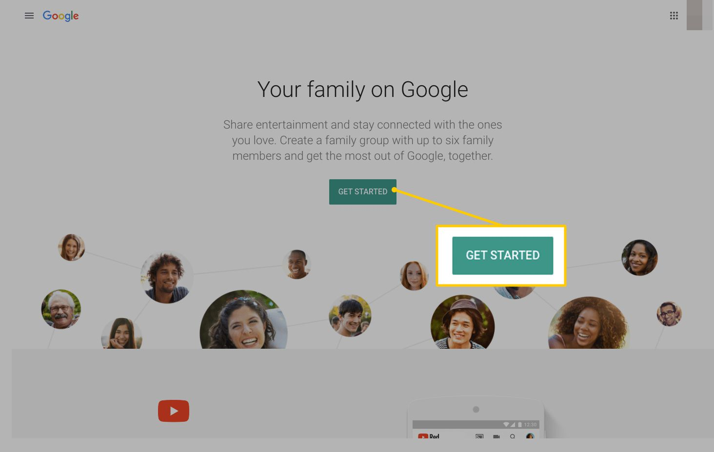 how to add a family member to google play music
