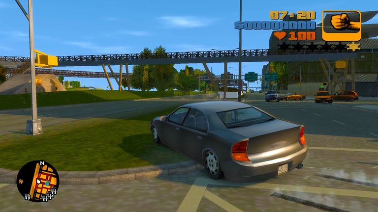 Auto jumping the curb in GTA 3 Remastered