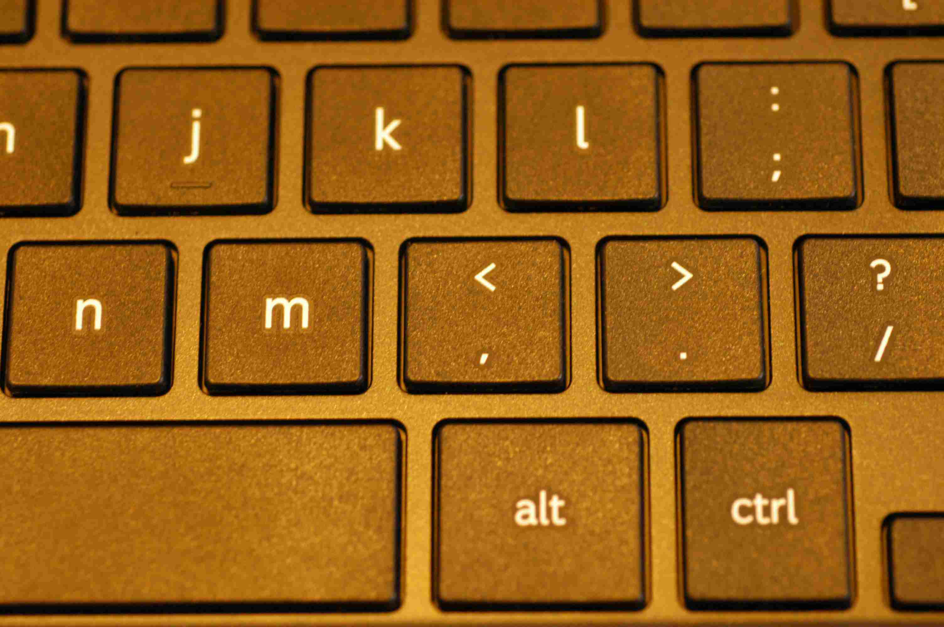 Zoomed in image of a Chromebook keyboard.