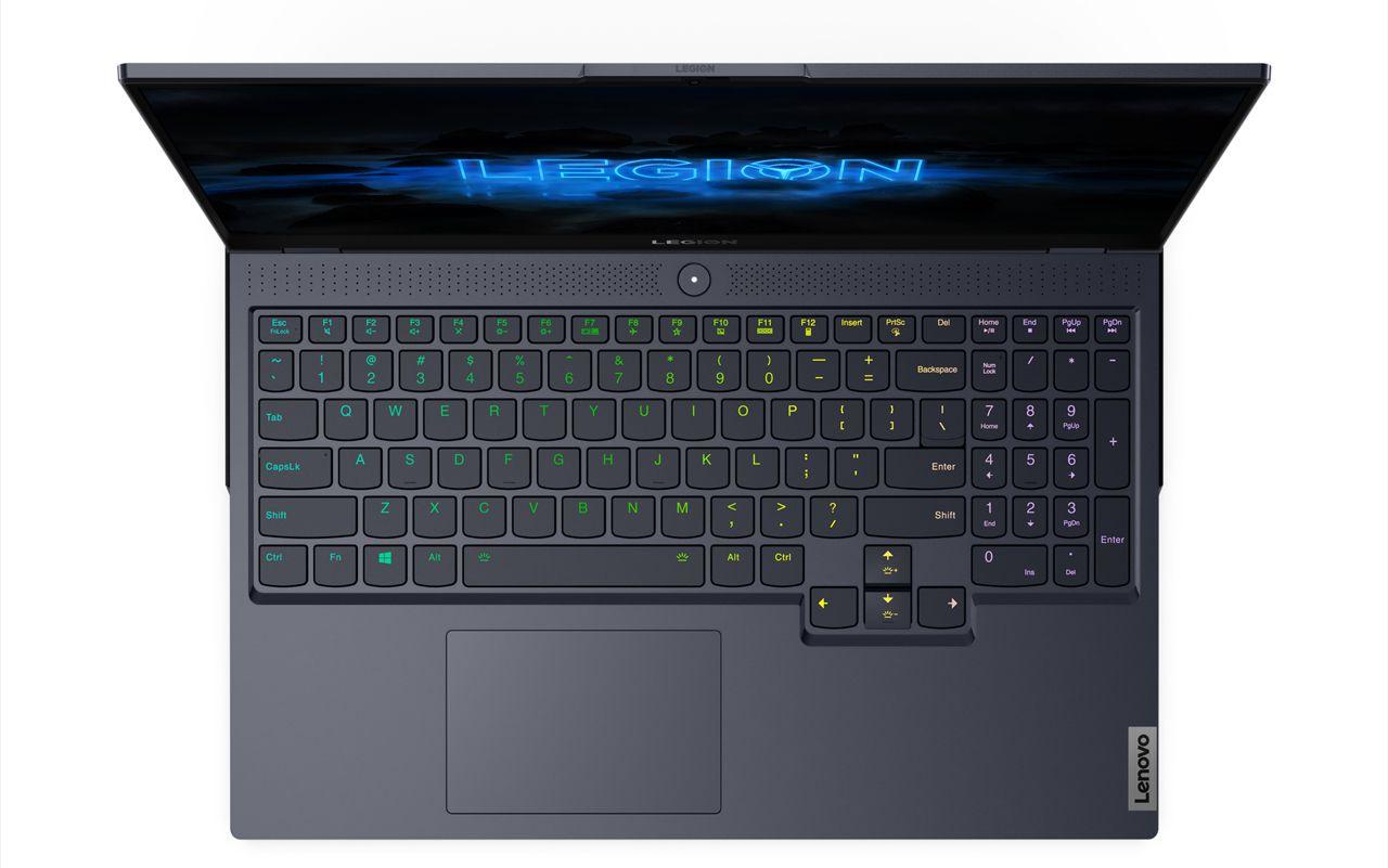 TrueStrike keyboard on the Lenovo Legion 7 15-inch gaming laptop.