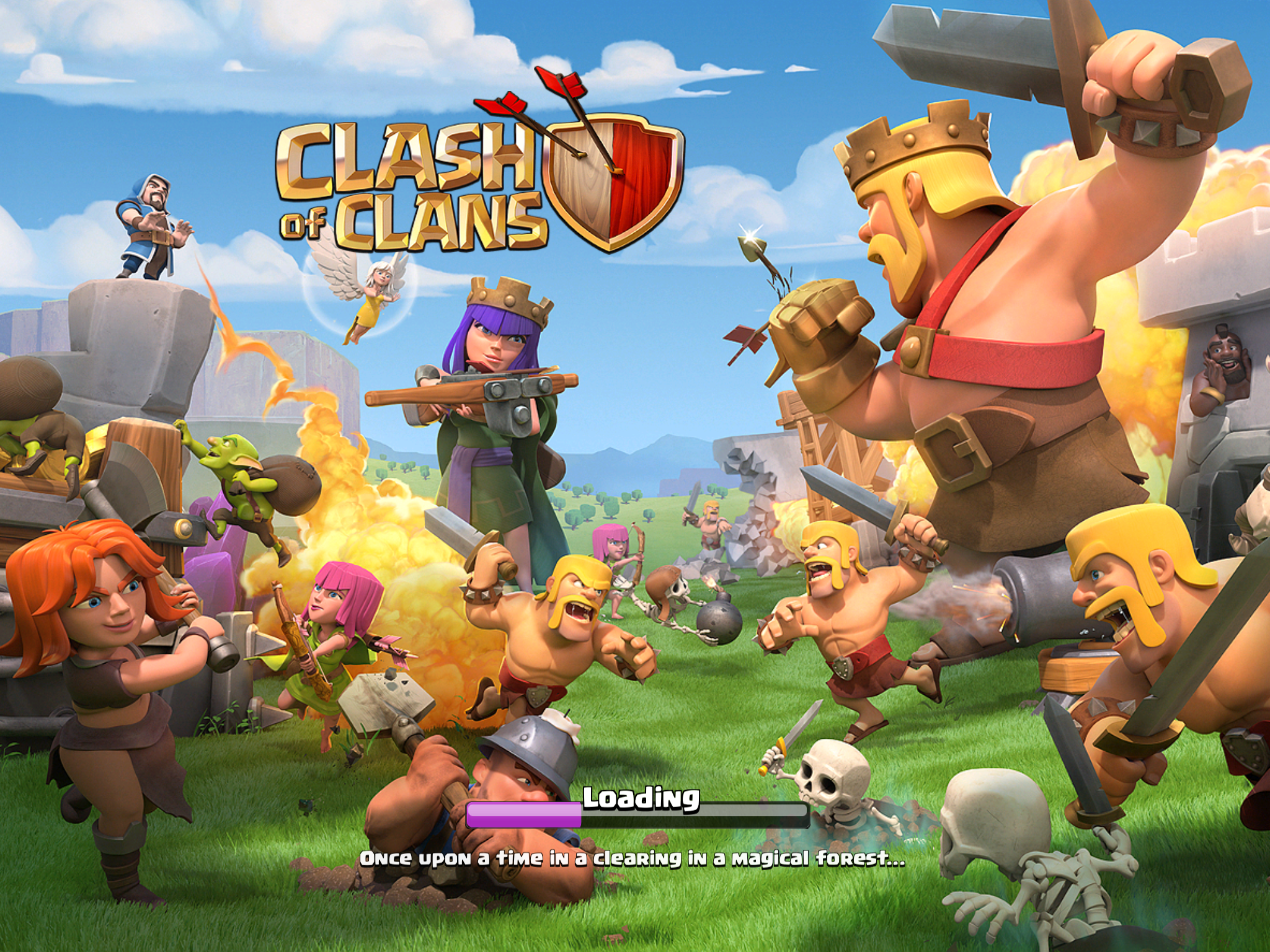 Screenshot of Clash of Clans Android Game