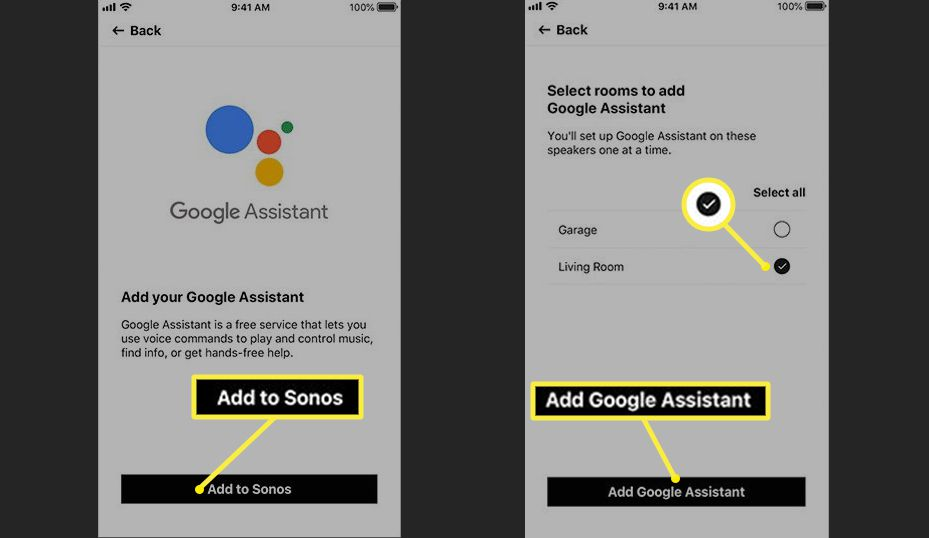 Sonos Add Your Google Assistant – Room Assignments (Sonos One/Beam)