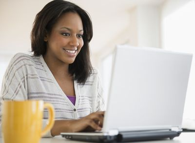 Picture of a woman using a laptop computer